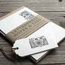 Retro Camera Letterpress Note Cards And Tags