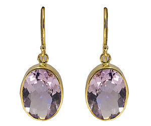 Amethyst Oval Drop Earrings - brand new sellers