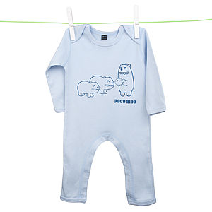 Babies Bears Sleepsuit Blue