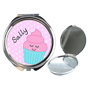 Personalised Cucpake Compact Mirror - beauty accessories