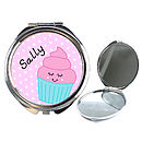 Personalised Cupcake Compact Mirror