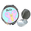 Girls Personalised Butterfly Compact Mirror