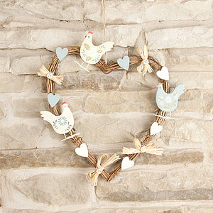 Country Hen Wreath - easter decorations