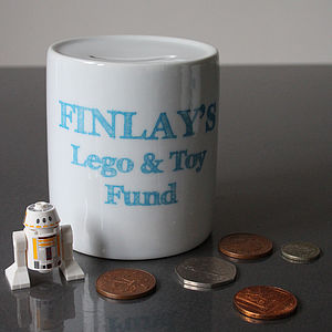 Custom Etched Text Dream Fund Money Box