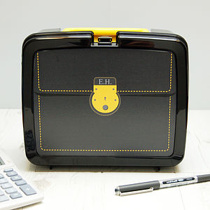 Personalised Briefcase Plastic Lunch Box