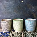 Set Of Three Scandinavian Tea Cups