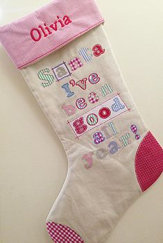 'I've Been Good All Year' Christmas Stocking