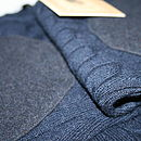 Dark Grey Tweed Elbow Patches