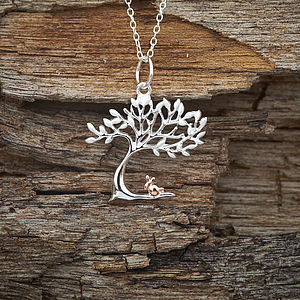 Silver And Gold Rabbit Necklace - necklaces & pendants