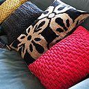 Pleated Velvet Cushion