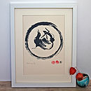 Crow Hare Circle. Limited Screenprint