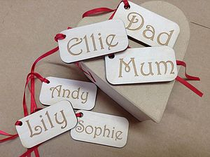 Personalised Name Gift Tag - finishing touches