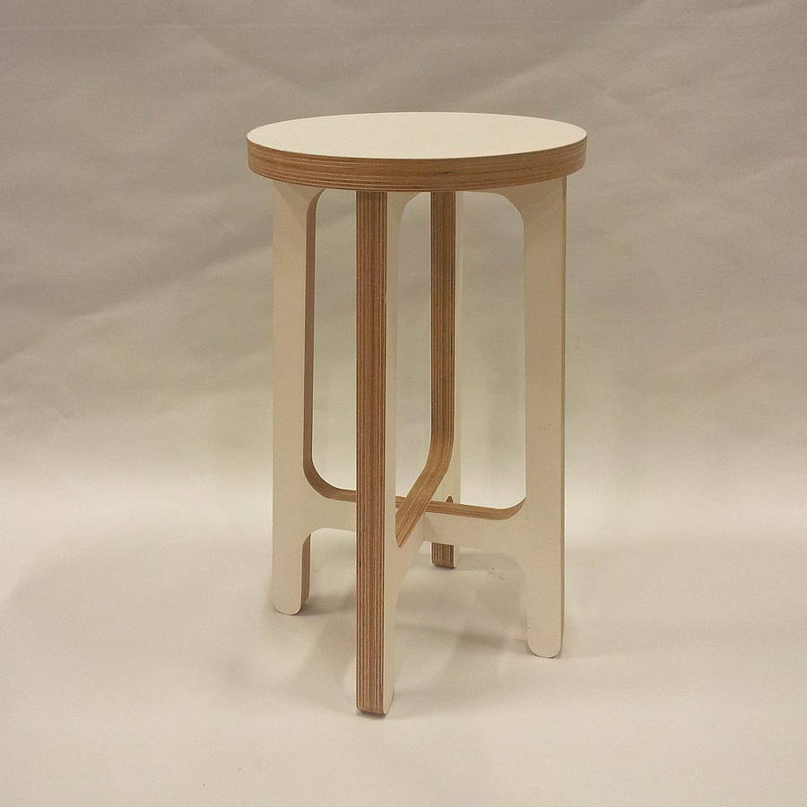 Birch plywood stool or side table by soap designs for Side by side plans