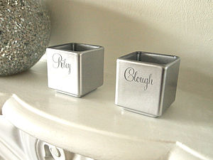 Personalised Engraved Tealight Candle Holder - living room