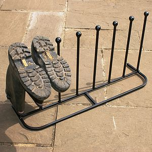 Four Pair Long Boot Rack - stands, rails & hanging space