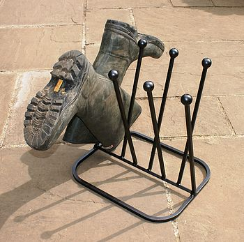 Four Pair Elegant Boot Rack