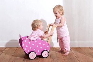 Wooden Pram For Dolls