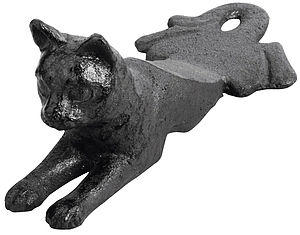 Cast Iron Cat Door Stop - door stops