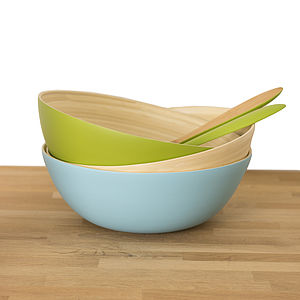 Lacquered Bamboo Salad Bowls - serving dishes