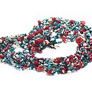 Turquoise Coral Pearl Strand Necklace