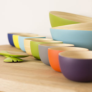 Mini Me Bamboo Lacquered Bowls