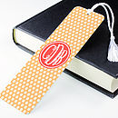 Personalised Polka Dot Metal Bookmark