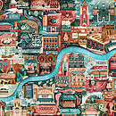 London Great Little Places Map Print