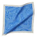 Blue Paisley Pocket Square