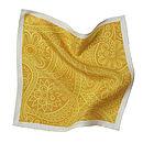 Yellow Orange Paisley Pocket Square