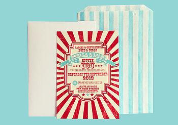 Evening Invitation Red & Cream
