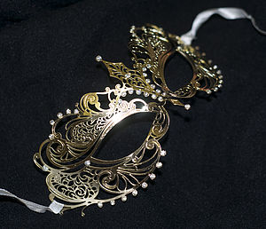 Gold Venetian Filigree Masquerade Mask - children's parties