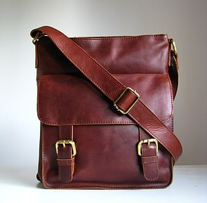 Leather Messenger Bag Vintage Style - bags & purses