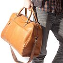 Overnighter Leather Holdall Travel Bag