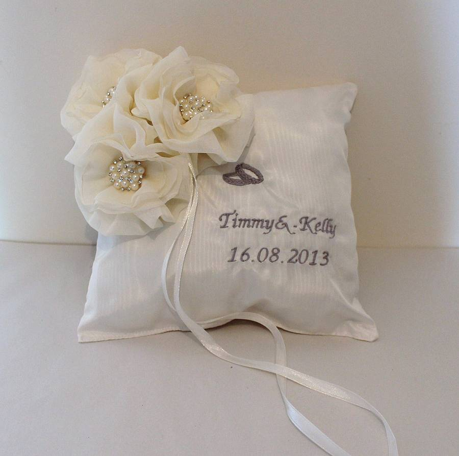 stardust personalised ring pillow by mabelicious bridal