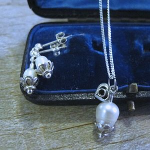 Freshwater Pearl Earrings And Necklace Set - jewellery