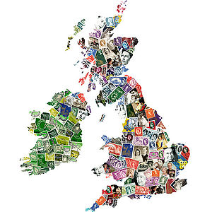 British Isles Map Artwork Inspired By H R H - posters & prints