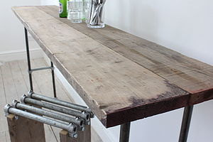 Reclaimed Scaffolding Board Console Table - furniture