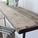 Fiona Reclaimed Scaffolding Board Console Table