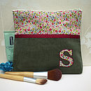 Personalised Liberty Print Make Up Bag