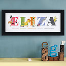 Personalised Colourful Characters Name Print