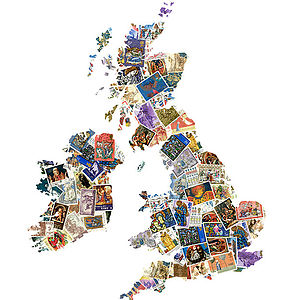 British Isles Map Artwork Inspired By Faith - contemporary art