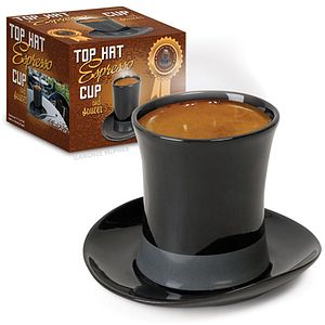 Top Hat Espresso Cup And Saucer - kitchen