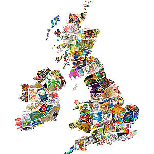 British Isles Map Artwork Inspired By Youth - contemporary art
