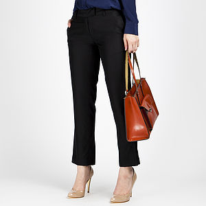Straight Leg Silk Trousers In Black Or Burgundy - Workwear