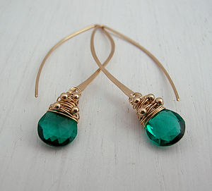 Apatite Quartz Long Hoops