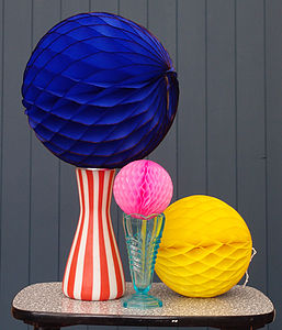 Set Of Three Paper Ball Decorations - outdoor decorations