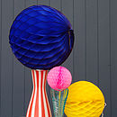 Set Of Three Paper Ball Decorations