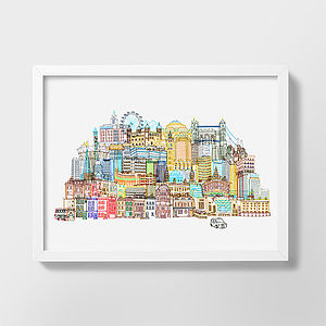London Cityscape Illustration - contemporary art