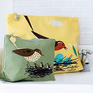 Birdy Make Up Bag And Wash Bag Duo - home