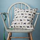 Pug Linen Cushion